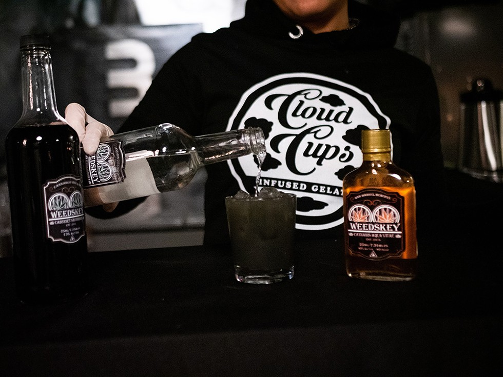 New York-based Weedskey makes THC-infused spirits. - COURTESY OF CLOUD CUPS