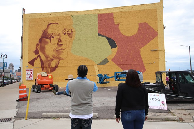 Work on the latest Murals in the Market festival started over the weekend. - COURTESY OF MURALS IN THE MARKET