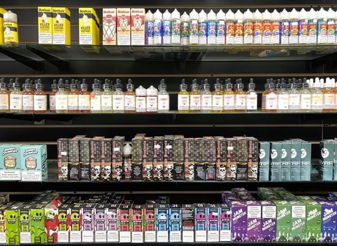 Flavored vape liquid at Detroit Smoke and Vape. - STEVE NEAVLING