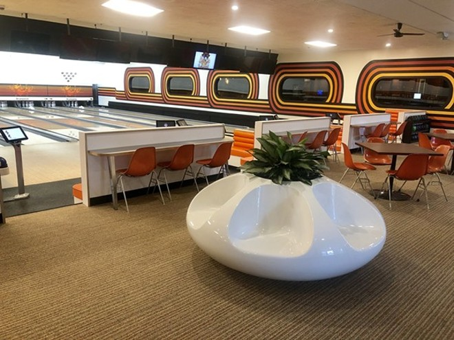The newly rehabbed Bowlero Lanes & Lounge. - KELLY ELLIOTT