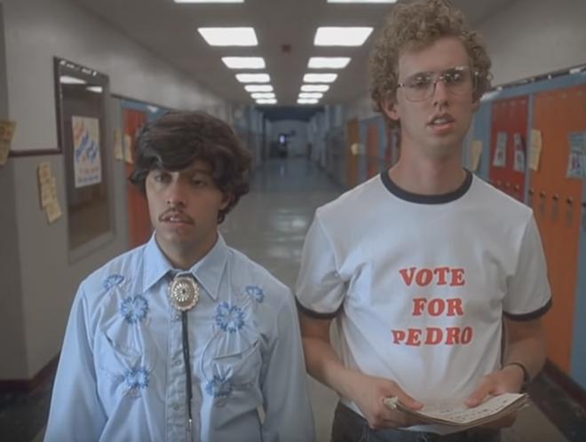 Vote for Pedro, idiot. - SCREENGRAB / YOUTUBE