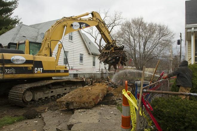 A Detroit Land Bank demolition. - STEVE NEAVLING