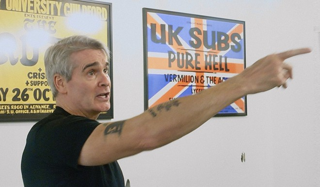 Henry Rollins pointing. - COURTESY OF PUNK THE CAPITAL: BUILDING A SOUND MOVEMENT [IN WASHINGTON D.C.]