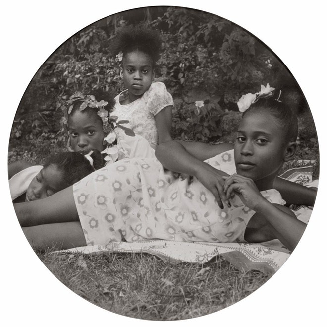 """""""After Manet, from May Days Long Forgotten,"""" 2002, Carrie Mae Weems, American; digital chromogenic print. Detroit Collects: Selections of African American Art from Private Collections runs through March 1 at the DIA. - SHIRLEY WOODSON AND EDSEL REID COLLECTION; COURTESY OF THE DIA"""
