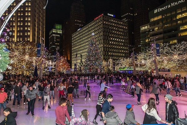 The ice rink at Campus Martius is open to the public this month