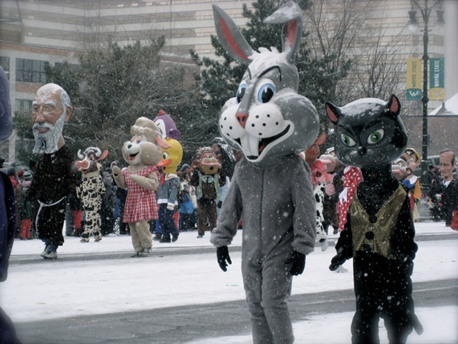 The annual Thanksgiving Parade along Woodward Avenue in 2014. - ATOMMADER / SHUTTERSTOCK