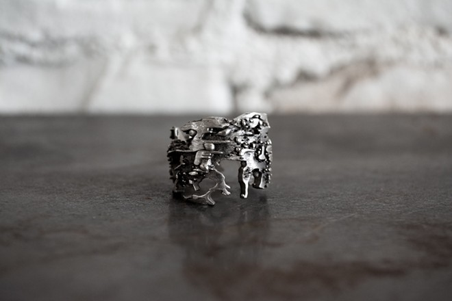 Tears of Possibility and Hope extruded ring, $440. - COURTESY OF XENOPHORA