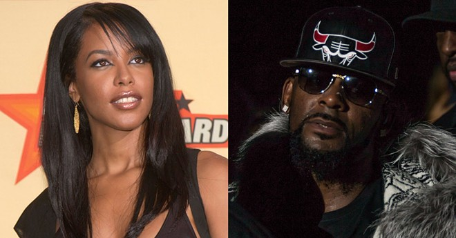 Aaliyah in 2001. R. Kelly in 2016. - JAMIE LAMOR THOMPSON | FEATUREFLASH PHOTO AGENCY (SHUTTERSTOCK.COM)