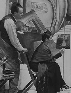 Diego Rivera and Frida Kahlo in Detroit, c. 1933, Courtesy of Spencer Throckmorton Collection, New York - COURTESY PHOTO
