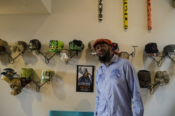 Tyrone Dickey inside Stef-n-Ty's soon-to-be closed location on Iron Street in Detroit. - REBECCA GALLAGHER
