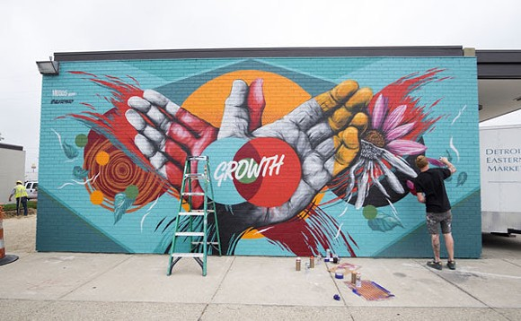 Meggs' new mural is located at 2934 Russell St., Detroit. - COURTESY PHOTO