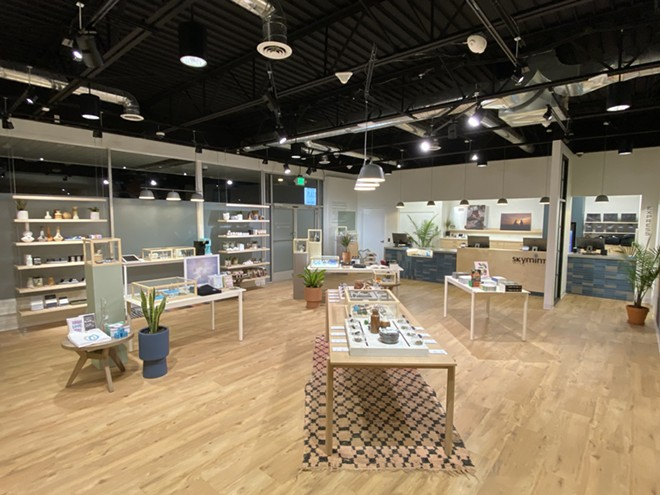 The interior of Skymint's new recreational marijuana store in Ann Arbor. - COURTESY OF SKYMINT