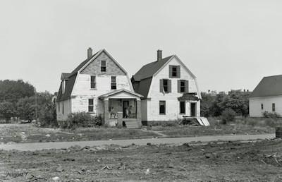 Two doomed houses on Adele Street. - BRUCE HARKNESS