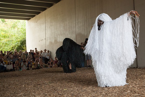 Nick Cave Dance Lab performance in Detroit's Dequindre Cut. - PHOTO BY PD REARICK