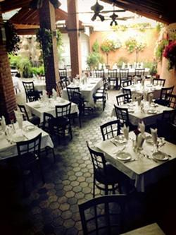 The patio at El Barzon. - FACEBOOK