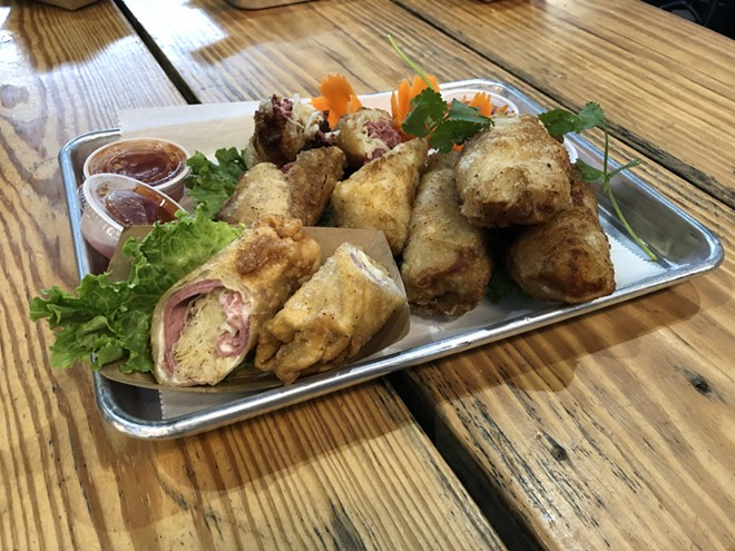 Bangkok 96 Street Food has entered the corned beef egg roll game