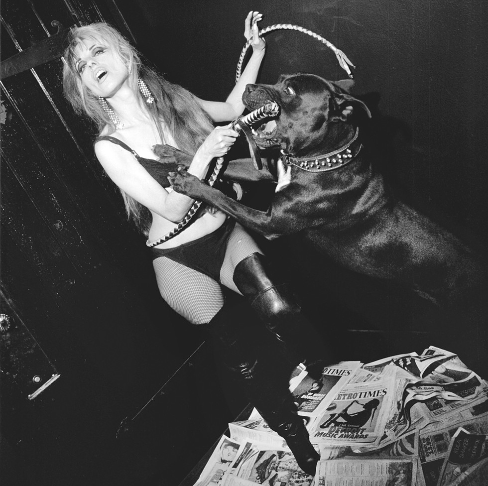 Niagara and a furry friend photographed for Metro Times' 20th anniversary issue in 2000. - BRUCE GIFFIN