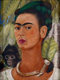 """Self-Portrait with Monkey,"" 1938, Frida Kahlo. - COURTESY OF DIA"