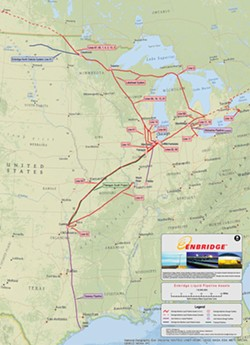 Enbridge's liquid pipeline map. - ENBRIDGE, INC.
