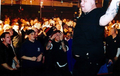 """""""Big Dog"""" onstage with Cold As Life in Canada, 1999. - PHOTO COURTESY MIKE """"THE GOOK"""" COULS, COLD AS LIFE"""