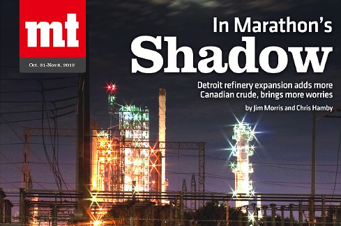 Image from our 2012 cover story on the Marathon refinery's expansion in Detroit.