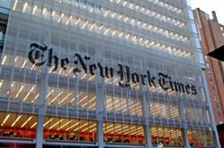 The New York Times building in New York, NY. - VIA WIKIMEDIA CREATIVE COMMONS.