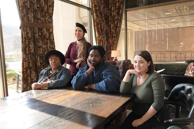 Talicia Campbell, Emma Davis, Tunde Olaniran, and Terra Lockhart. - COURTESY OF UMS