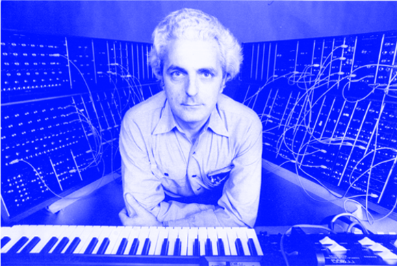 Dr. Robert Moog, with one of his inventions