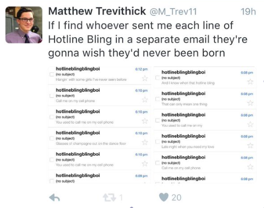 Matthew from Grand Blanc will cut you if you send him unsolicited e-mails.
