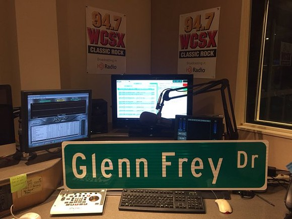 Glenn Frey Drive street sign - PHOTO COURTESY OF TWITTER USER JIMINTHED