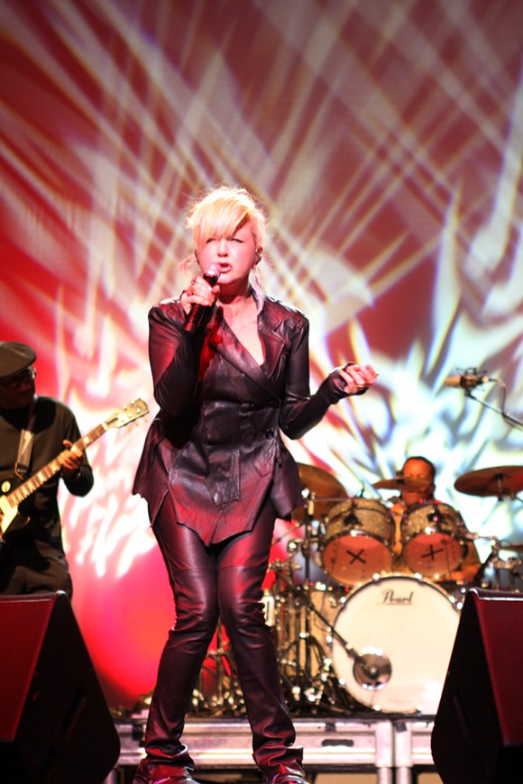 Cyndi Lauper performing live in 2011, from Wikipedia.