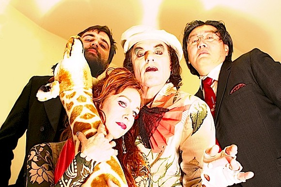 Larynx Zillion's Novelty Shop. Left to right:William Bennett, Elizabeth Royce, Laurence Miller, and Tim Nagae. - PHOTO COURTESY ROBERT HORNBACKER