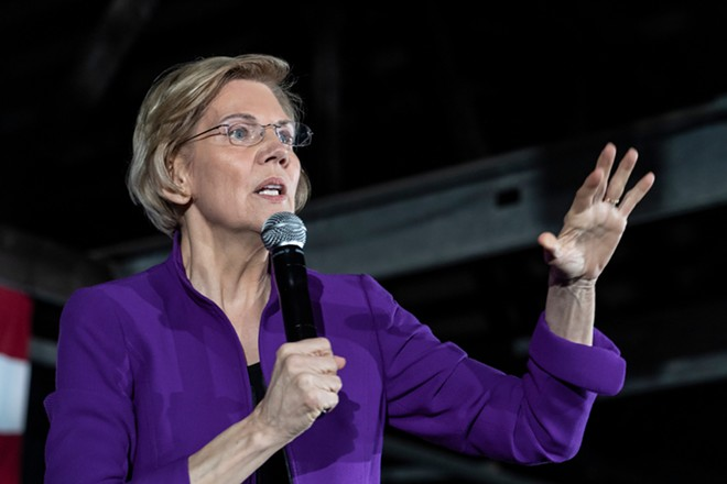Democratic 2020 presidential candidate Elizabeth Warren. - LEV RADIN / SHUTTERSTOCK.COM