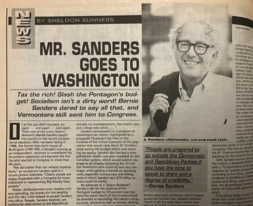 A slow Bern: Bernie Sanders interviewed in the Dec. 12, 1990 issue of Metro Times following his first Congressional win. - LEE DEVITO