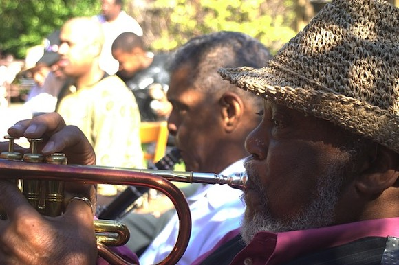 Marcus Belgrave plays the Jazz on the Lawn Festival, August 2011. - PHOTO COURTESY W. KIM HERON