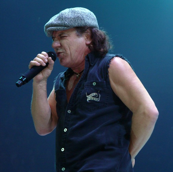 """From Wikipedia: """"Brian Johnson live with AC/DC in 2008 in St. Paul, Minnesota. Photo by Matt Becker"""""""