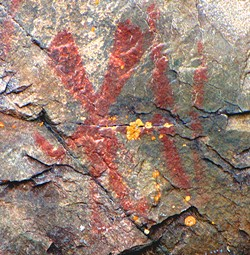 Nanabozho pictograph, Mazinaw Rock, Bon Echo Provincial Park, Ontario, Canada. - PHOTO BY D. GORDON E. ROBERTSON, WIKIMEDIA COMMONS