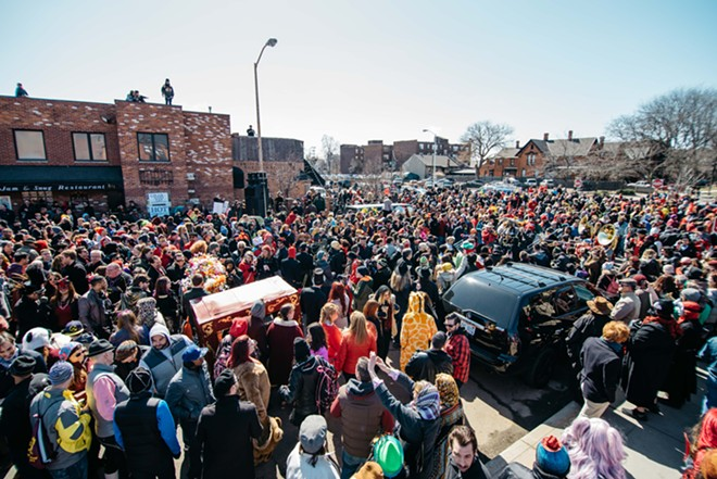 Detroit's Marche du Nain Rouge parade draws thousands. - COURTESY PHOTO