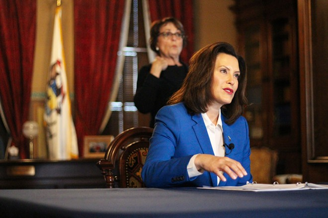 Gov. Gretchen Whitmer announces stay-at-home order. - STATE OF MICHIGAN