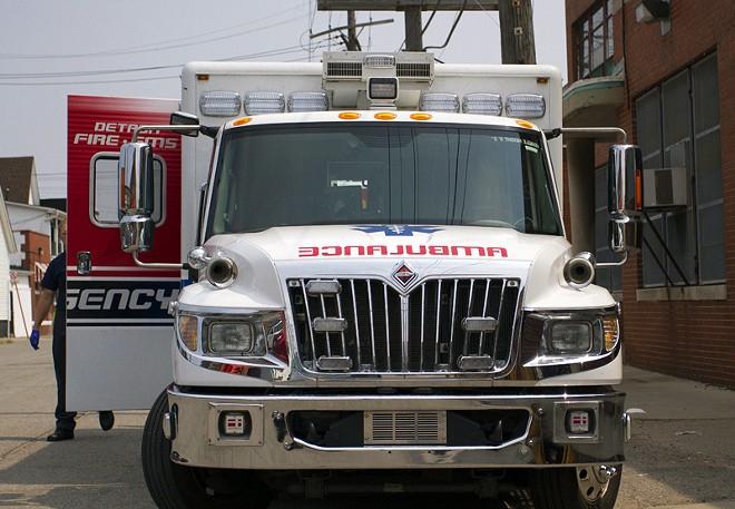 City of Detroit ambulance. - STEVE NEAVLING