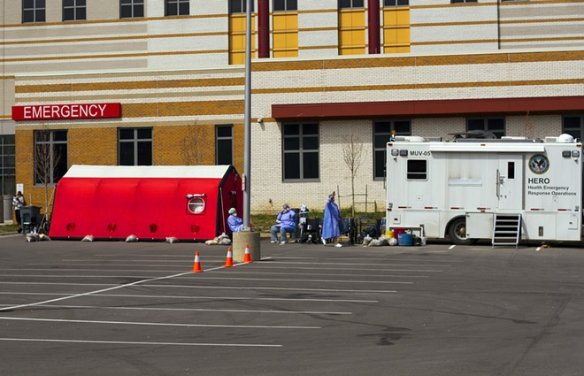 Emergency room at the John D. Dingell VA Medical Center in Detroit. - STEVE NEAVLING