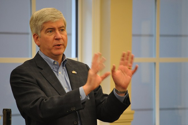 Former Governor Rick Snyder. - MICHIGAN MUNICIPAL LEAGUE VIA FLICKR