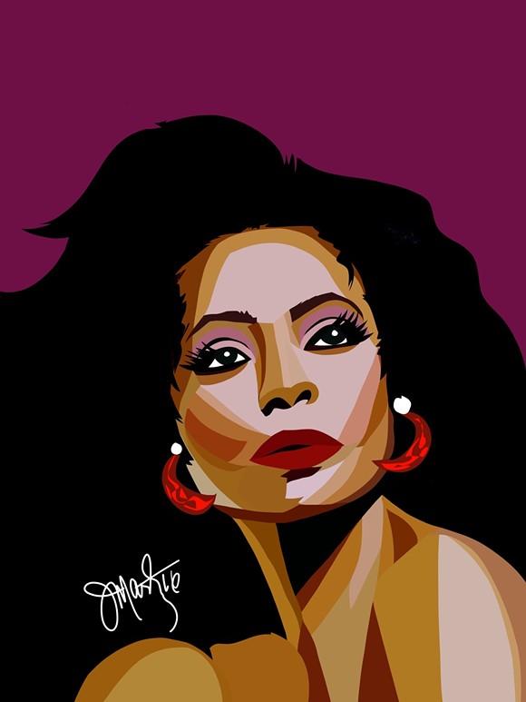Diana Ross. - PHOTO VIA JEREMY MARTIN