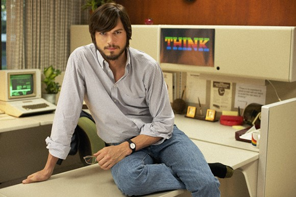"Kutcher as Apple founder Steve Jobs in ""Jobs"" - PHOTO VIA YOUTUBE"