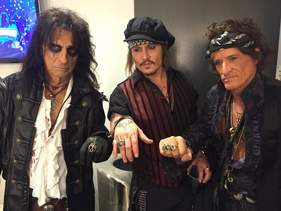 Alice Cooper, Johnny Depp, and Joe Perry in all their glory. - PHOTO VIA FACEBOOK