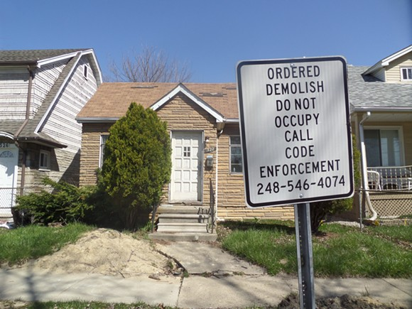 322 W. Muir, one of the homes slated for demolition in Hazel Park. - COLLEEN KOWALEWSKI