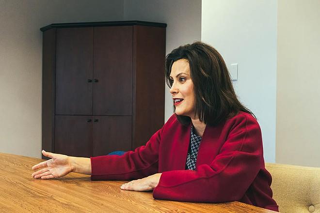 Gretchen Whitmer at her Detroit campaign office. - NOAH ELLIOTT MORRISON