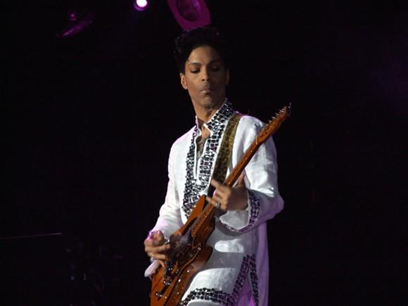 Prince playing at Coachella in 2008. - PHOTO VIA CC BY-SA 3.0