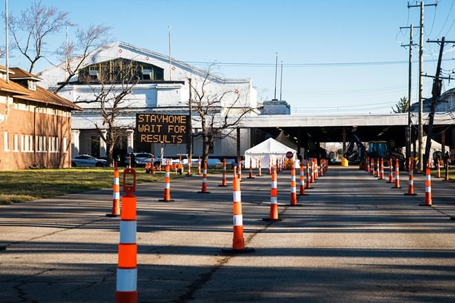 Coronavirus testing site at the Michigan State Fairgrounds. - CITY OF DETROIT