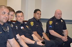 Dearborn city police officers engage in National Day of Prayer Held at the Dearborn Administrative Center - May 7, 2015. - LION MULTIMEDIA PRODUCTION/FLICKR